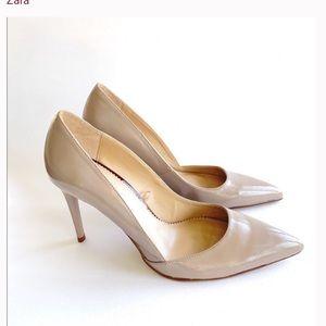 Zara Woman Nude Grey High Heels